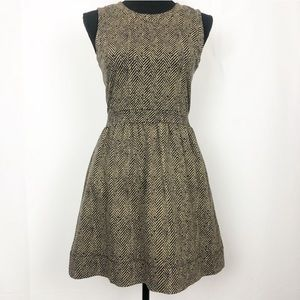J Crew Sleeveless Ponte Herringbone  Dress